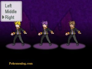 pokemon insurgence choose character and position