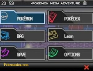 pokemon mega adventure rom menu