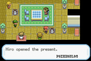 opening present in pokemon sweet 2th