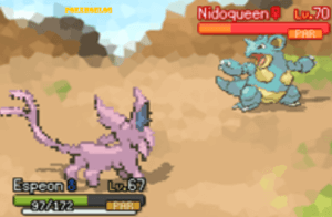 nidoqueen and espeon
