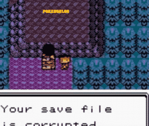 your save file is corrupted