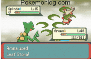 Spinda Character have used aroma
