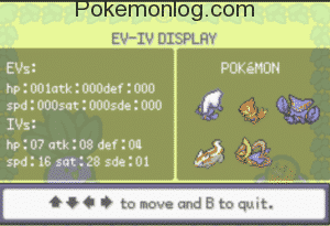ev and iv display of every pokemon
