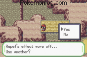 Repel effect wore off