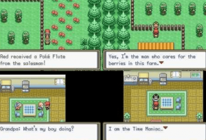 different scenes in the game
