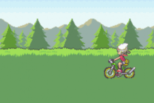 driving the bike