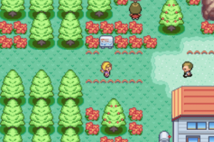 the player exploring the area