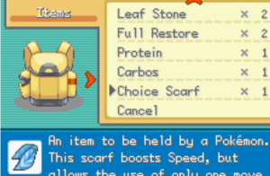 Items to select