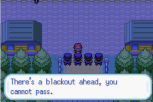 blackout ahead you cannot pass