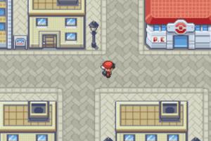 near the pokemon center