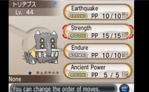 you can change the order of moves