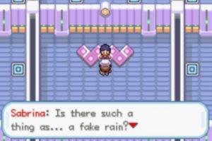 Chating with Sabrina in Pokemon Dreary