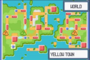 Yellow town map
