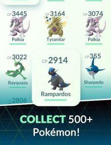 Collect 500+ Pokemon